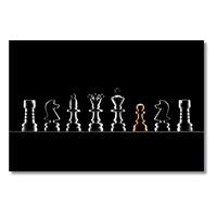 Tictac Satranç Taşları Kanvas Tablo - 60X120 Cm