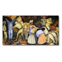 Tictac Meksikalı Köylüler Kanvas Tablo - 40X80 Cm