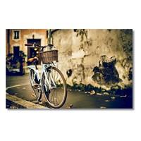 Tictac Mavi Bisiklet Kanvas Tablo - 40X80 Cm