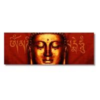 Tictac Altın Buda Kanvas Tablo - 30X90 Cm