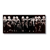 Tictac Marilyn Monroe 2 Kanvas Tablo - 40X120 Cm