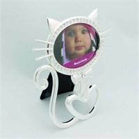 Giftpoint Taşlı Metal Kedi Çerçeve