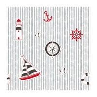 Bien Kids 1916 Kırmızı Siyah Gemili Çocuk Odası Duvar Kağıdı