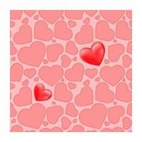 Bien Kids 1976 Kırmızı Kalp Desenli Duvar Kağıdı