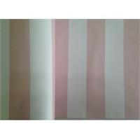 Bien 7960 Kalın Çizgili Açık Pembe Beyaz Duvar Kağıdı