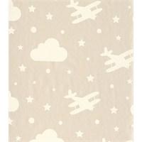 Bien 4871 Bulut Uçak Desen Duvar Kağıdı