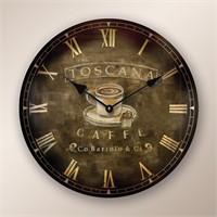 Ahşap Üzeri Eskitme Kadranlı Saat