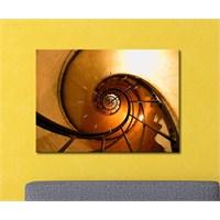 Tabloshop - Sonsuz Merdivenler Canvas Tablo Saat - 45X30cm
