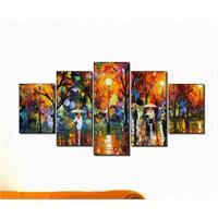 Kp-075 Parçalı Canvas Tablo - 123X56cm