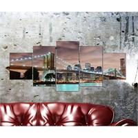 Tabloshop - Kp-20 5 Parçalı Canvas Tablo - 123X56cm