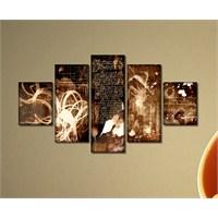 Tabloshop - Kp-24 5 Parçalı Canvas Tablo - 123X56cm