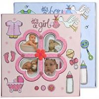 Derin 20 Yaprak Manyetik Bebek Fotoğraf Albümü