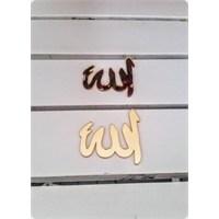 Toptansüs Yapışkanlı Akrilik Pleksi Ayna Allah Yazısı Gümüş - 50 Adet / Paket