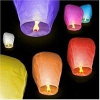 Toptansüs Dilek Feneri Uçan Çin Balonu Kırmızı 10'Lu