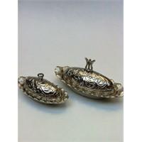 Toptansüs Gümüş Kayık Lokumluk Oval (4.5X8.5Cm) Küçük - Gümüş - 10 Adet / Paket
