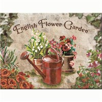 Nostalgic Art English Flower Garden Red Can Magnet 6X8 Cm