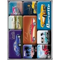 Nostalgic Art Us Classic Cars Magnet Set (9 Parça)