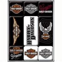 Nostalgic Art Harley Davidson Logos Mmagnet Set (9 Parça)