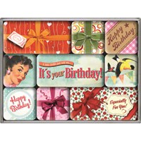 Nostalgic Art Say It 50S Happy Birthday Magnet Set (9 Parça)