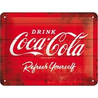 Nostalgic Art Cocacola Logo Red Metal Kabart Malı Pin Up Duvar Panosu (15 X 20 Cm)