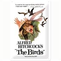 Nostalgic Art Alfred Hitchcock's The Birds Metal Kabart Malı Duvar Panosu (20 X 30 Cm)