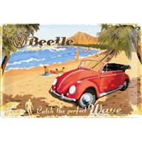 Nostalgic Art Vw Beetle Metal Kabart Malı Duvar Panosu (20 X 30 Cm)
