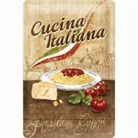 Nostalgic Art Cucina Italiana Metal Kabart Malı Duvar Panosu (20 X 30 Cm)