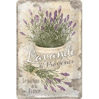 Nostalgic Art Lavende De Provence Metal Kabart Malı Duvar Panosu (20 X 30 Cm)