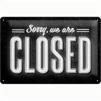 Nostalgic Art Sorry, We Are Closed Metal Kabart Malı Duvar Panosu (20 X 30 Cm)
