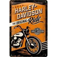 Nostalgic Art Harley Original Ride Metal Kabart Malı Duvar Panosu (20X30 Cm)
