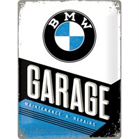 Nostalgic Art Bmw Garage Metal Kabart Malı Duvar Panosu (30X40 Cm)