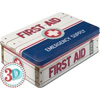 Nostalgic Art First Aid 2 Yatay Teneke Saklama Kutusu