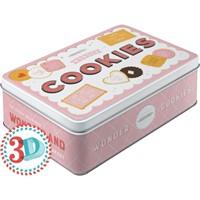 Nostalgic Art Wonder Cookies Kabart Malı Yatay Teneke Saklama Kutusu