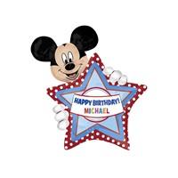 KullanAtMarket Mickey Mouse Kişiye Özel Super Shape Folyo Balon 60 Cm X 76 Cm 1 Adet
