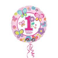 KullanAtMarket Tatlı 1 Yaş Kız Folyo Balon 43 Cm 1 Adet