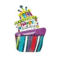 Kullanatmarket Doğumgünü Pastası Super Shape Folyo Balon 61 Cm X 94 Cm 1 Adet