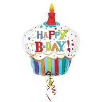 KullanAtMarket Happy Birthday Cupcake Super Shape Folyo Balon 74 Cm X 91 Cm 1 Adet