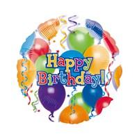 KullanAtMarket Rengarenk Balonlu Happy Birthday Folyo Balon 43 Cm 1 Adet