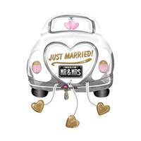 KullanAtMarket Düğün Arabası Super Shape Folyo Balon 58 Cm X 79 Cm 1 Adet