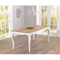 Woodenbend Lyon Eskitilmiş Beyaz Masa 80*175
