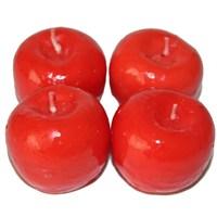 Pandoli 4 Adet Kırmızı Elma Figürlü Mum