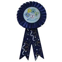 Pandoli Baby Shower Yazılı Rozet Lacivert