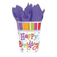 Pandoli Happy Birthday Karton Bardak 250 Cc 8 Li