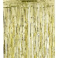 Pandoli Işıltılı Parti Perdesi Kapı Püskülü Sarı