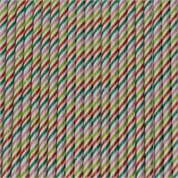 Pandoli İnce Çizgili Renkli Kağıt Pipet 25 Adet