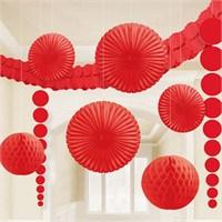 Pandoli Kırmızı Dekorasyon Seti 9 Adet