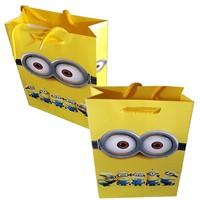 Pandoli Minyonlar Karton Kraft Hediye Dağıtma Çantası 10 Adet