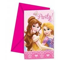 Pandoli Prenses Glamour 6 Lı Davetiye Ve Zarf