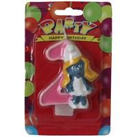 Pandoli Şirine Modelli 2 Yaş Doğum Günü Mumu