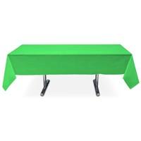 Pandoli Yeşil Renk Plastik Parti Masa Örtüsü
